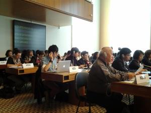 香港民間團體代表在聯合國公約聆訊會場合照